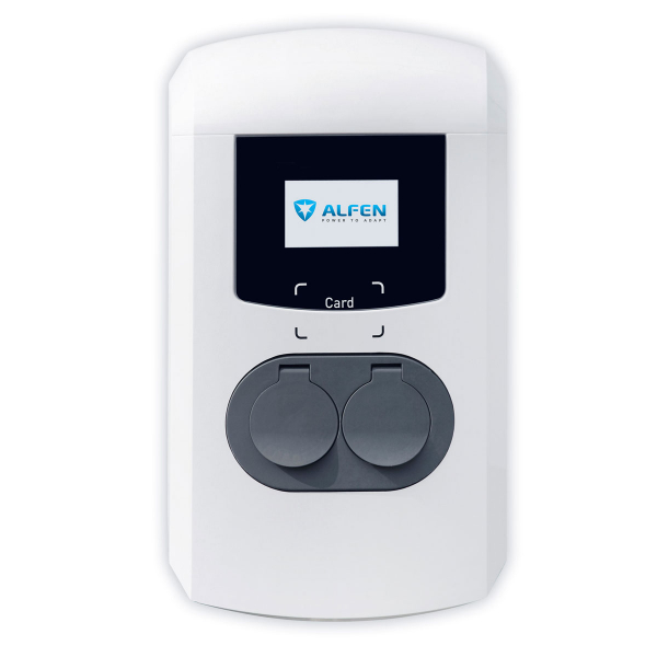 Double ALFEN charging station 904461002-0004 Eve - Type 2 - 2x 22kW - UMTS 3G RFID MID