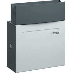 HAGER Home Charging station Witty - 2.3 to 7 kW - 10-30A - Adjustable - 230VAC - Type 2 - Shutter - XEV092 - light grey