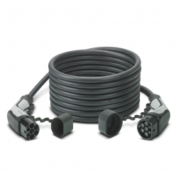PHOENIX CONTACT Câble de recharge - Type2 - Type2 - 10m - 22kW (triphasé 32A) + Sac