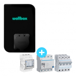 Pack Borne de recharge WALLBOX - 1,4 à 22kW - Bluetooth - Wifi - RFID + Module de gestion de charge + Protections électriques