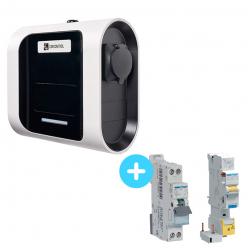 Pack Borne de Recharge Circontrol eNext S 2,3Kw à 7,4Kw + Protections électriques 7,4Kw