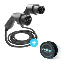 BESEN Câble de recharge - Type 2 / Type 2 - 5m - 22kW (3 phases 32A) - T2 / T2 + Housse