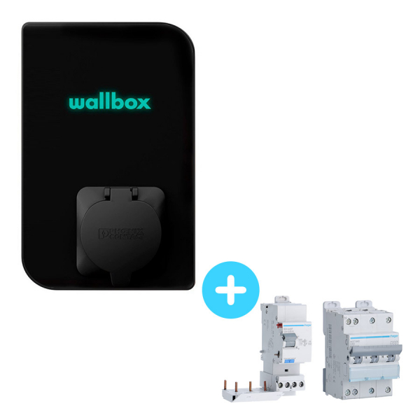 Pakck WALLBOX Mini Borne de recharge Copper - 1,4 à 22kW - Bluetooth - Wifi - RFID - Protections électriques 22kW