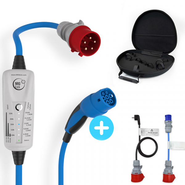Mobile charging station - Type2 - 2,3 to 22kW 32A adjustable - 5m cable attached - Bluetooth - NRGkick 32A 20219