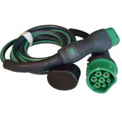 EVBOX Câble de recharge véhicule électrique - type 2 - type 2 - 3,7kW (1Ph-16A) - 6m - Evbox-C1166-T2T2