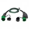 EVBOX Câble de recharge véhicule électrique - type 2 - type 1 - 7,4kW (1Ph-32A) - 4m - Evbox-C1324-T2T1