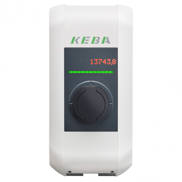 KEBA Wallbox 98.136 charging station KeContact P30 - b-series - Type2S - Shutter - 3.7 to 22kW