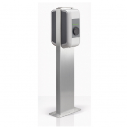 Pedestal for two KEBA charging stations
