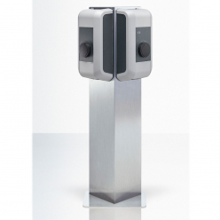 Pedestal triangle charging stations KEBA