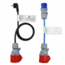 Kit adaptateur pour chargeur mobile 16A - prise type e 220V + prise camping - NRGkick Adapterset 16A - 20207