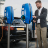 EVBOX Borne de recharge BusinessLine B3162-0022 double Autostart - Type 2S - Obturateur - 2x 11kW -  démo extérieur