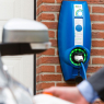 EVBOX Charging Station BusinessLine B3161-0022 Single Autostart - Type 2S - Shutter - 11kW (3Ph-16A) - light gray