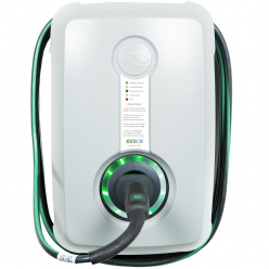 EVBOX HomeLine Autostart Wallbox charging station H1160-00262 H- Type 2 - 3.7kW (1Ph-16A) - 6m attached cable- light grey