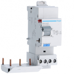 HAGER BDH440F - Differential switch 40A - Type A Hi - 3P + N - 30mA