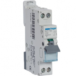 HAGER MJT732 - Disjoncteur - 1P+N - 32A - Courbe C - PdC 6kA
