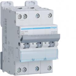 HAGER NGT840 - Circuit breaker 40A - 3P + N - D curve - PdC 10kA