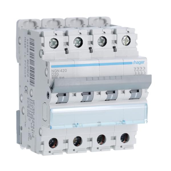 HAGER BDH240F - Interrupteur différentiel Type A Hi - 1P+N - 40A - 30mA