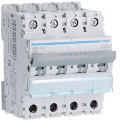 59/5000 HAGER NGN432 - Circuit Breaker - 4P - 32A - D Curve - 10kA