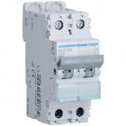 HAGER MCA240 - Circuit breaker 40A - 2P - C curve - PdC 6kA