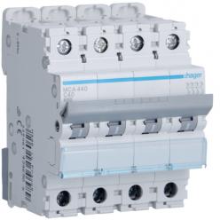 HAGER MCA440 - Circuit breaker 40A - 4P - C curve - PdC 6kA
