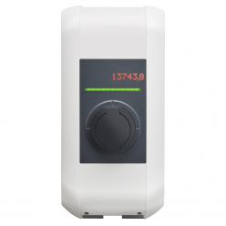 KEBA Charging terminal P30 106833 e-series - 2,3 to 7,4kW - power - adjustable - white - white hood