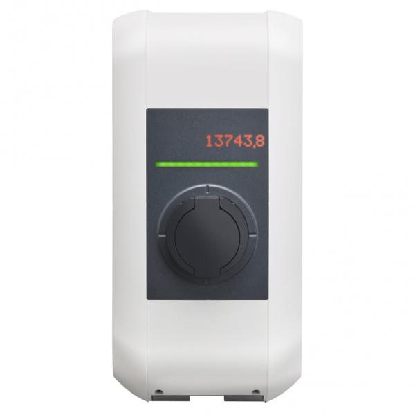 KEBA Borne de recharge P30 106833 e-series - 2,3 à 7,4kW - puissance - réglable - Blanche - capot blanc