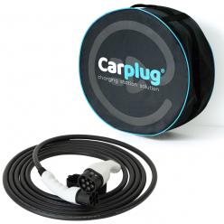 CARPLUG Câble de recharge - Type 2 - Type 2 - 7m - 22kW (3 phases 32A) - T2 T2 + Housse