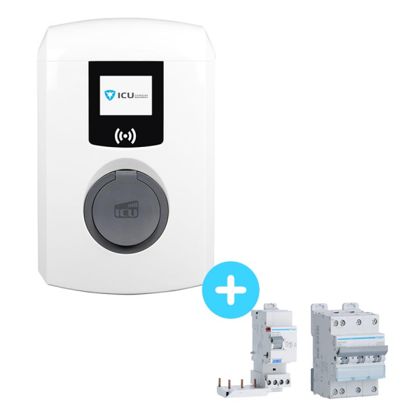 Pack ALFEN Eve Mini charging station - 3.7 to 22kW - RFID - 2G + Circuit Breaker and Differential Electrical Protection - 22kW